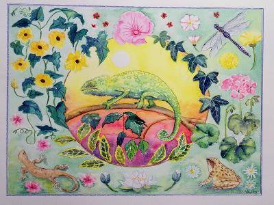 Chameleon (Month of June from a Calendar)-Vivika Alexander-Giclee Print