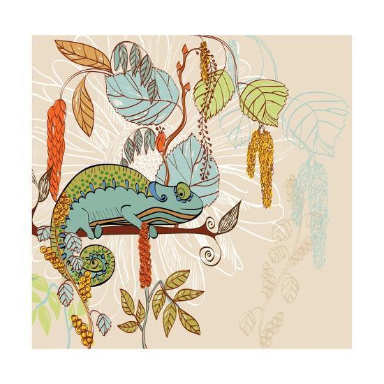 Chameleon-Tatsiana Pilipenka-Art Print