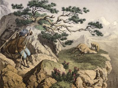 Chamois Hunters of the Alps--Giclee Print