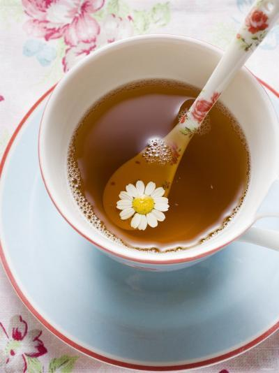 Chamomile Tea in Cup with Spoon--Photographic Print