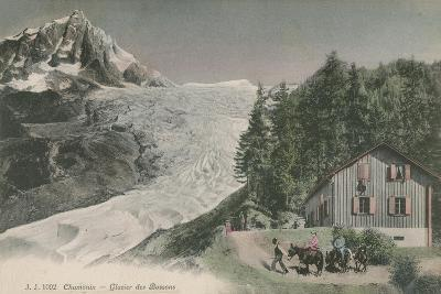 Chamonix - Bossons Glacier. Postcard Sent in 1913-French Photographer-Giclee Print