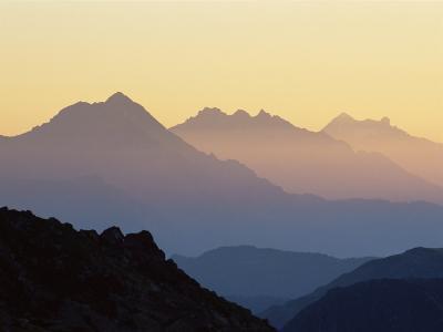 Chamonix Valley in Early Morning Sun, Chamonix, French Alps, France, Europe-Jochen Schlenker-Photographic Print