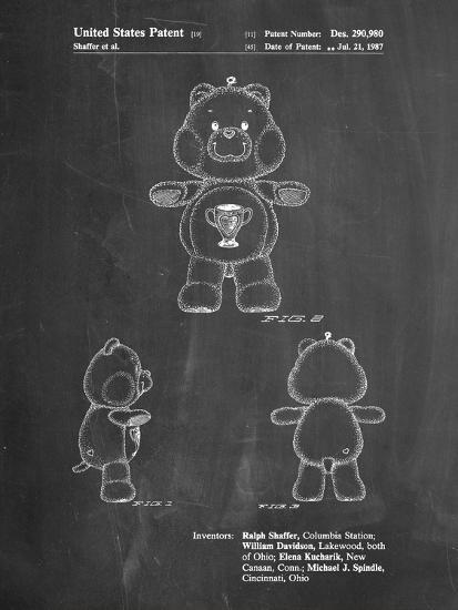 Champ Care Bear-Cole Borders-Art Print