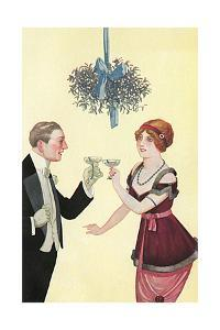 Champagne and Mistletoe