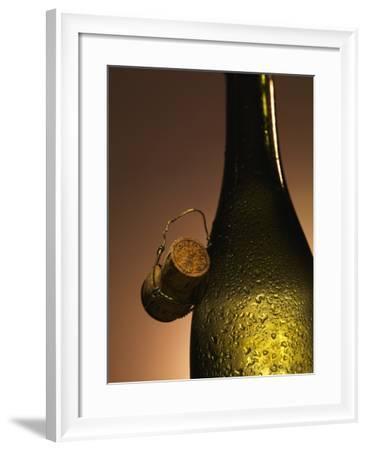 Champagne Bottle with Cork-Joerg Lehmann-Framed Photographic Print
