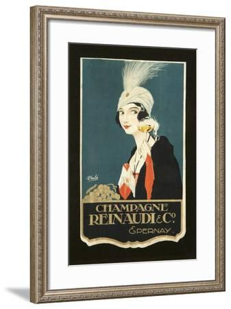Champagne Renaudi-Vintage Apple Collection-Framed Giclee Print