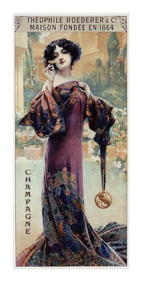 Champagne Roederer-Gaspar Camps-Art Print