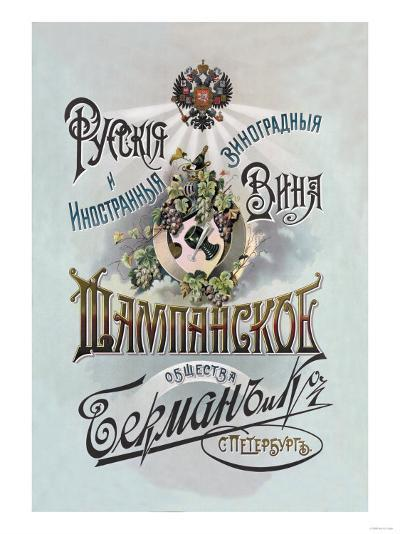 Champagne, Russian Wine--Art Print