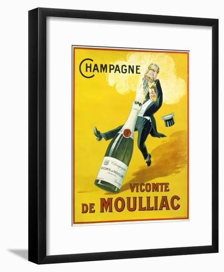 Champagne Vicomte De Moulliac--Framed Giclee Print