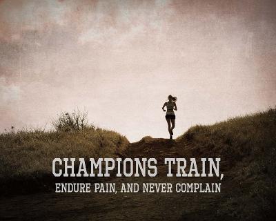 Champions Train Woman Color-Sports Mania-Art Print