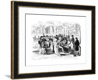 Champs Elysees Open Air Concert, C.1800--Framed Giclee Print