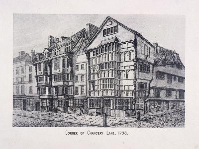 Chancery Lane, London, 1798--Giclee Print