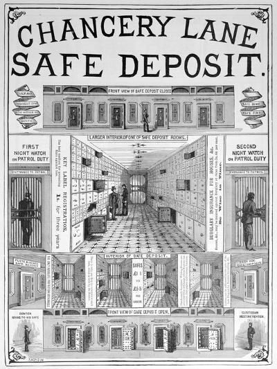 Chancery Lane Safe Deposit Facility, 1893--Giclee Print