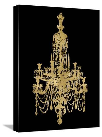 Chandelier Golden Black-Amy Brinkman-Stretched Canvas Print