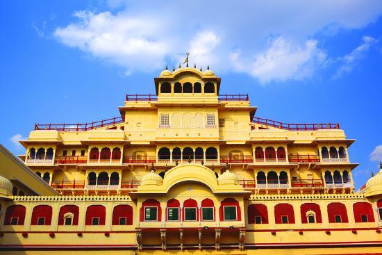 Chandra Mahal in City Palace, Jaipur,-prasenjeet1-Photographic Print