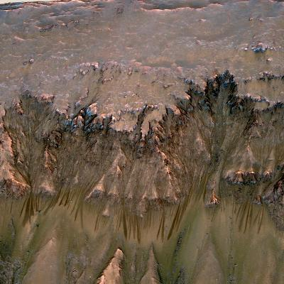 Changes in Gullies on Mars's Newton Crater Might Be Evidence of Flowing Water--Photographic Print