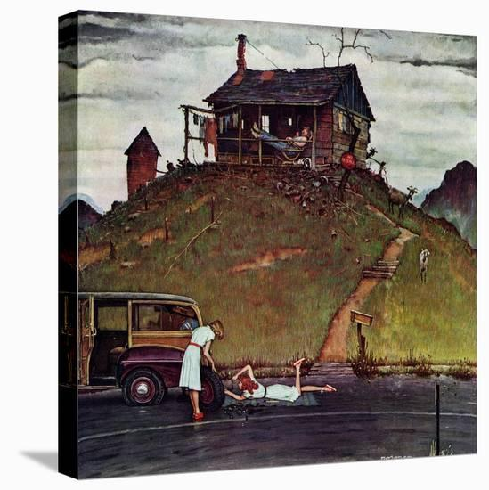 """Changing a Flat"", August 3,1946-Norman Rockwell-Stretched Canvas Print"