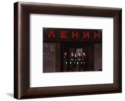 Changing Guard at Lenins Tomb, Red Square, Moscow, 20th century-CM Dixon-Framed Photographic Print