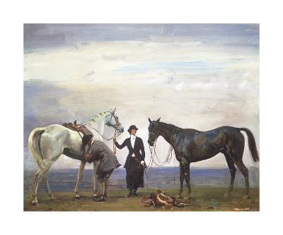 Changing Horses-Sir Alfred Munnings-Premium Giclee Print