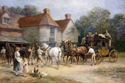Changing Horses-Heywood Hardy-Giclee Print