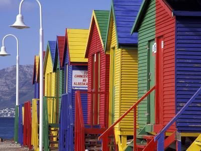 Changing Huts on St. John's Beach, Capetown, South Africa-Michele Westmorland-Photographic Print