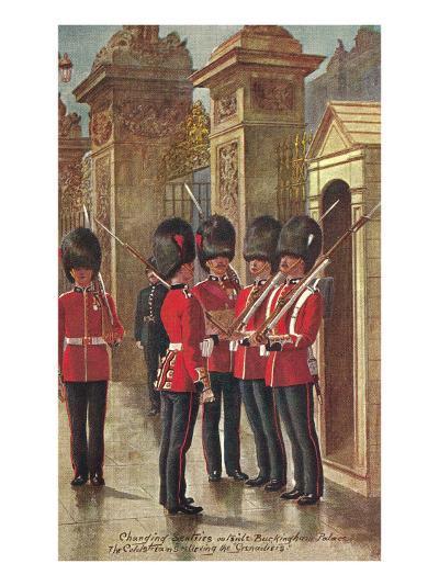 Changing of the Guard at Buckingham Palace--Art Print