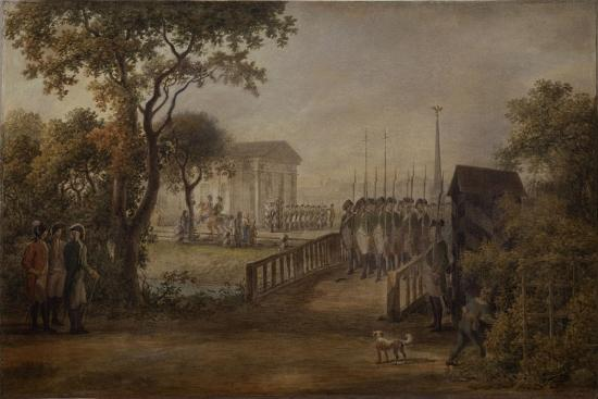 Changing of the Guard at the Tsarina?S Meadow in Saint Petersburg, 1799-Mikhail Matveevich Ivanov-Giclee Print