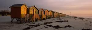 Changing Room Huts on the Beach, Muizenberg Beach, False Bay, Cape Town, South Africa