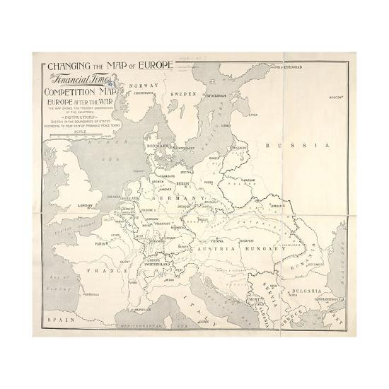 Changing the Map of Europe, Tthe Financial Times Competition, London ...