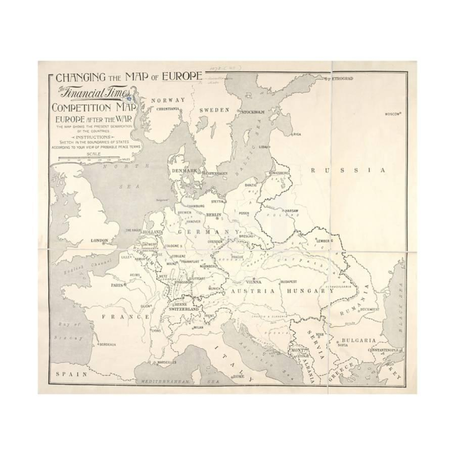 Changing The Map Of Europe Tthe Financial Times Competition London