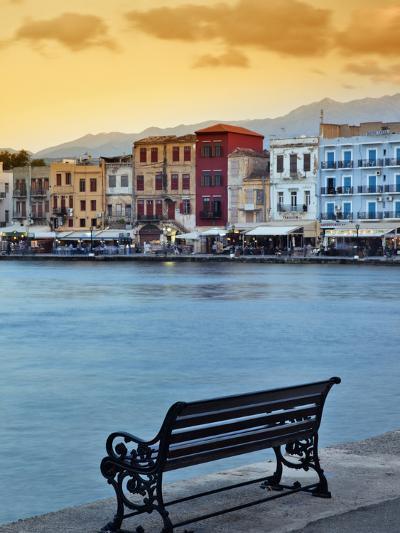 Chania at Dusk, Chania, Crete, Greece-Adam Jones-Photographic Print