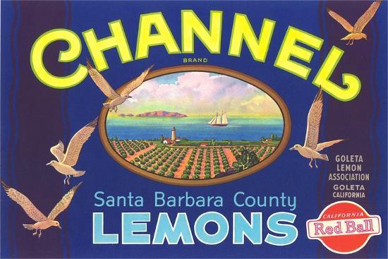 Channel Lemon Label--Art Print