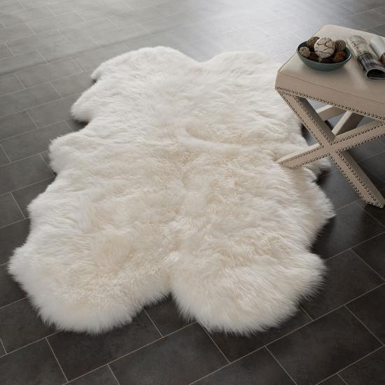 Channel Sheep Skin Rug *--Home Accessories