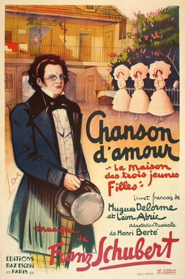 Chanson d'Amour (c.1926)-Georges Dola-Collectable Print