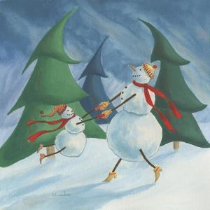 Snowmen Spinning by Chantal Candon