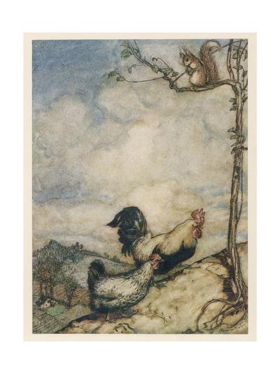 Chantecleer, Partlet-Arthur Rackham-Giclee Print