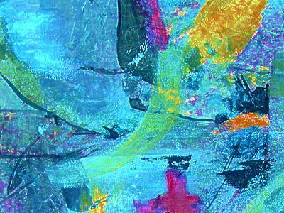 Chaos in Blue-Ruth Palmer-Art Print