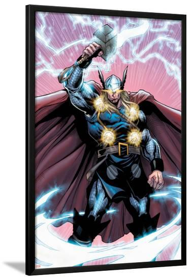 Chaos War: Thor No.2: Thor Standing-Brian Ching-Lamina Framed Poster