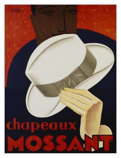 Chapeaux Mossant, 1928-Olsky-Art Print