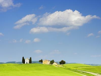 Chapel and Farmhouse on Hill-Frank Lukasseck-Photographic Print