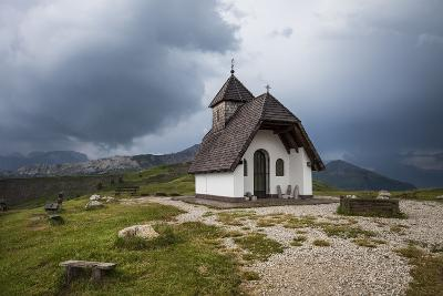 Chapel at the Plateau of the Pralongia, Close Corvara, Val Badia, South Tyrol, Italy, Europe-Gerhard Wild-Photographic Print