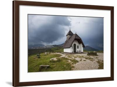 Chapel at the Plateau of the Pralongia, Close Corvara, Val Badia, South Tyrol, Italy, Europe-Gerhard Wild-Framed Photographic Print
