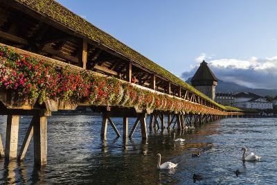 Chapel Bridge, Europe's Oldest Covered and the World's Oldest Truss Bridge-Jonathan Irish-Photographic Print