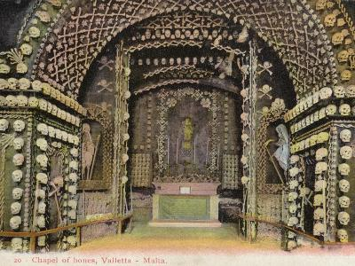 Chapel of Bones, Valletta, Malta--Photographic Print