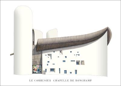 Chapel of Notre Dame du Haut, Ronchamp-Le Corbusier-Art Print
