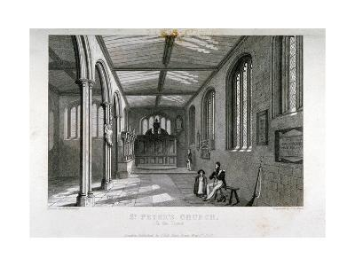 Chapel of Of St Peter Ad Vincula, Tower of London, 1837-John Le Keux-Giclee Print