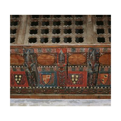 Chapel of Saint Roman. Paneled Wooden Ceiling, Detail, Spain--Giclee Print