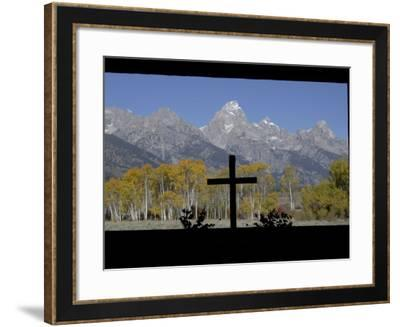 Chapel of Transfiguration, Grand Teton National Park, Wyoming, USA-Rolf Nussbaumer-Framed Photographic Print