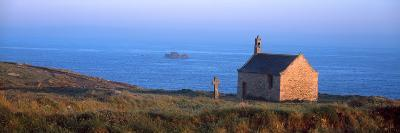 Chapel on the Coast, Saint-Samson Chapel, Portsall, Finistere, Brittany, France--Photographic Print