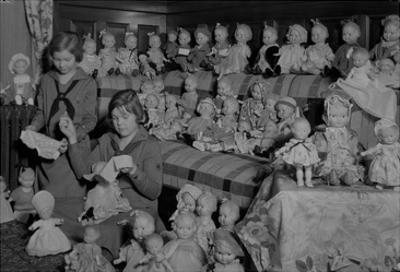 Girl Scouts Repairing Dolls, 1931-1932 by Chapin Bowen
